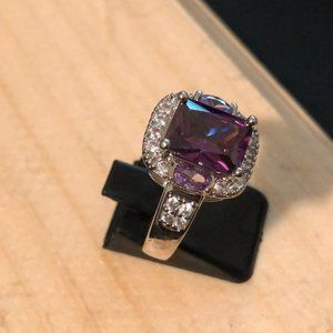 Amethyst Purple 925 Silver Ring